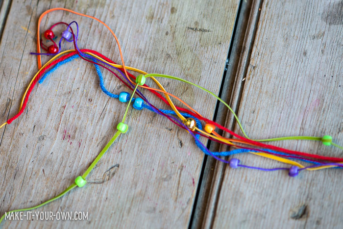 Multi-Strand Rainbow Necklace from make-it-your-own.com (Crafts & activities for kids)