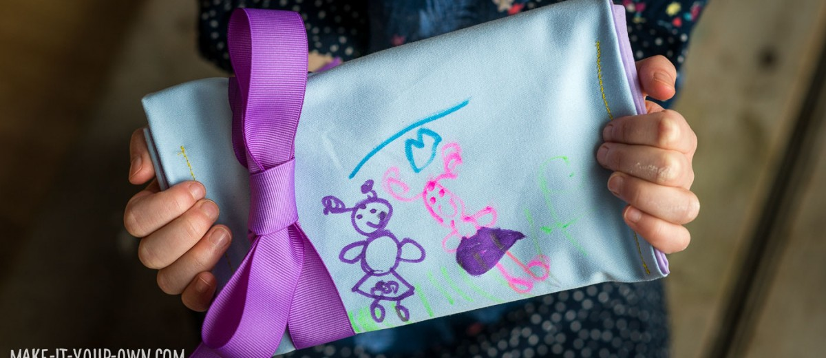 Kid Drawn Keepsake Fabric Envelope with make-it-your-own.com (Crafts & Activities for Kids)