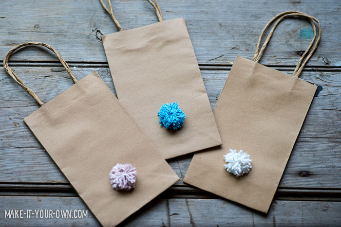 Pom Pom Bunny Bags for Easter or Spring