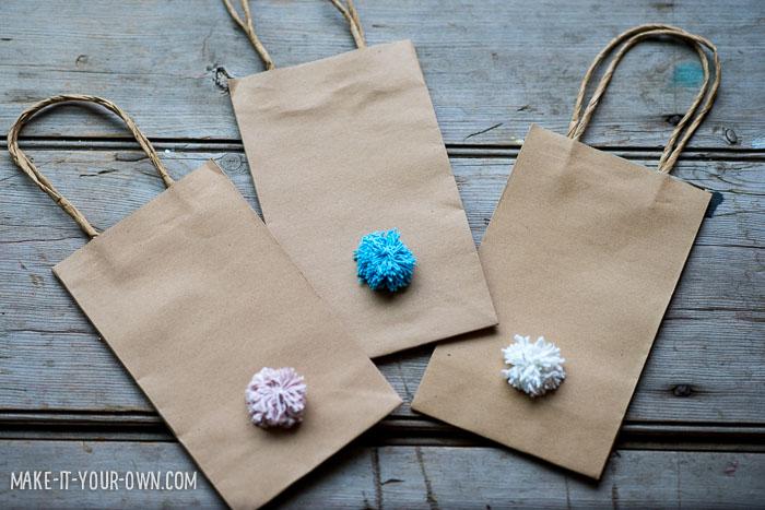 Pom Pom Bunny Bags for Easter or Spring