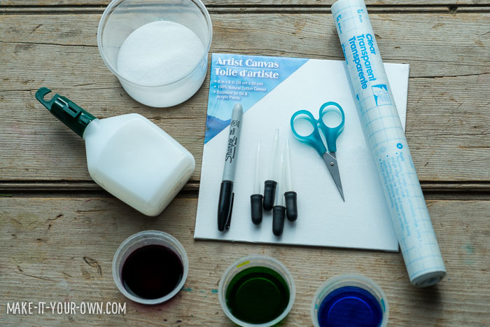 Easter Eggs: Painting with Salt & Glue