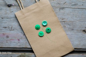 Simple Shamrock Gift Bag