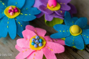 Flower Napkin Rings- perfect for Spring! With make-it-your-own.com (Crafts & activities for kids)