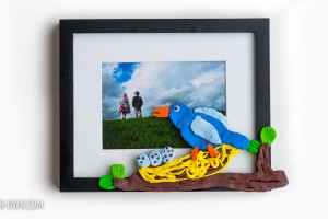 Nature Inspired Kid-made picture frame from make-it-your-own.com (Crafts & activities for kids)