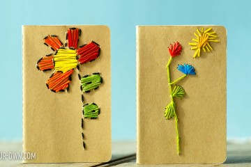 Stitched Notebooks from make-it-your-own.com (Perfect for Mother's Day)