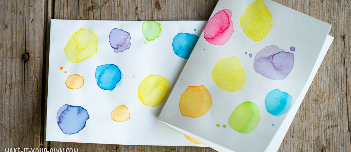 Watercolour Notecard Set for Mother's Day from make-it-your-own.com (Crafts & Activities for Kids)