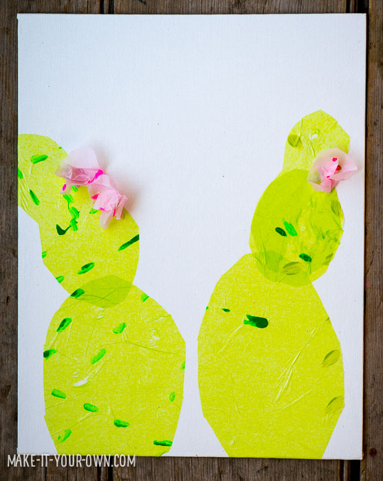 Tissue Paper Collage (This would be great for an end of the year teacher gift!) from make-it-your-own.com (Crafts & activities for kids!)