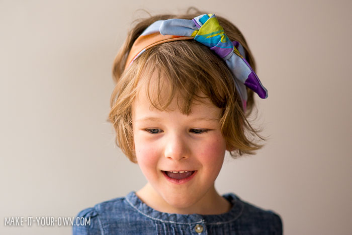 DIY Fabric Tied Headband with make-it-your-own.com (Check us out for more crafts and activities for kids!)