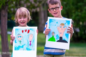 Polaroid Portraits (perfect for Father's Day!) from make-it your-own.com (Crafts & Activities for Kids)