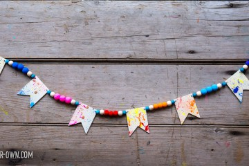 Snapped Elastic Party Garland from make-it-your-own.com (Craft & activities for kids!)