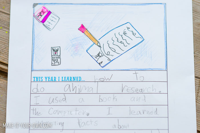 "School Wrap-Up: ""This Year I Learned..."" from make-it-your-own.com (Crafts & activities for kids)"