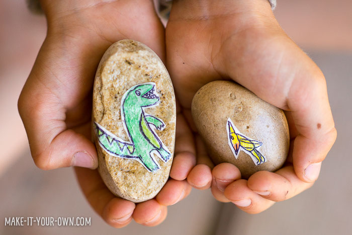 Dinosaur Rock Eggs with make-it-your-own.com (Crafts & activities for kids)