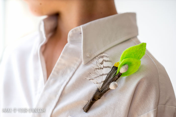DIY Pussy Willow Boutonniere from make-it-your-own.com (Crafts & activities for kids)
