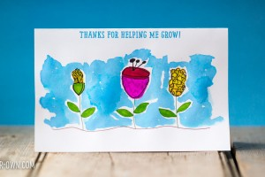 Flower Thank You Card (perfect for teachers, instructors and leaders) from make-it-your-own.com (Crafts & Activities for Kids)