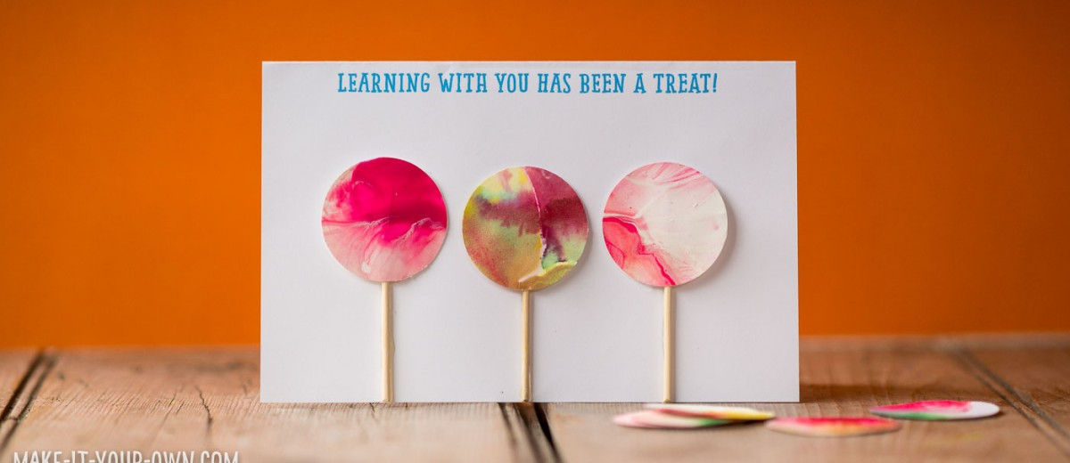 Treat Thank You Card (perfect for teachers, instructors and leaders) from make-it-your-own.com (Crafts & Activities for Kids)