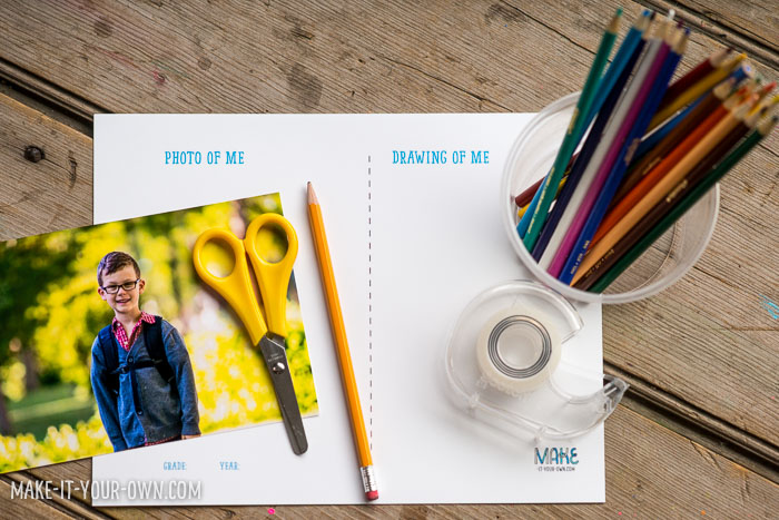 End of the Year Photo and Portrait Idea with make-it-your-own.com (Crafts & Activities for Kids)