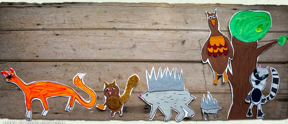 Bristol/Poster Board Project: Making Animals with make-it-your-own.com (Crafts & Activities for Kids)