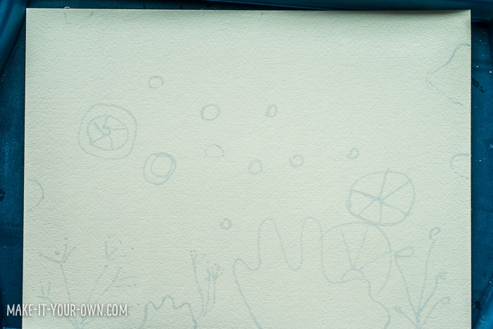Underwater Notebooks with Correction Pen Resists with make-it-your-own.com (Crafts & activities for kids)