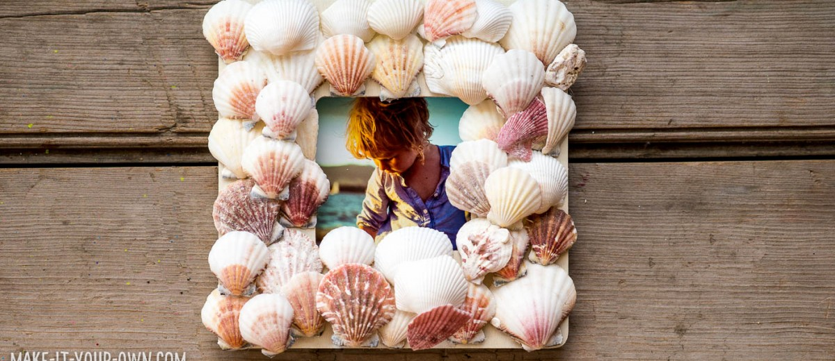 Simple Seashell Frame with make-it-your-own.com (Crafts & activities for kids)