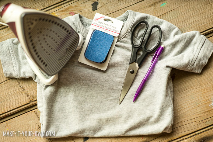 A simple way to personalize your clothes with jean patches with make-it-your-own.com (Crafts & activities for kids!)