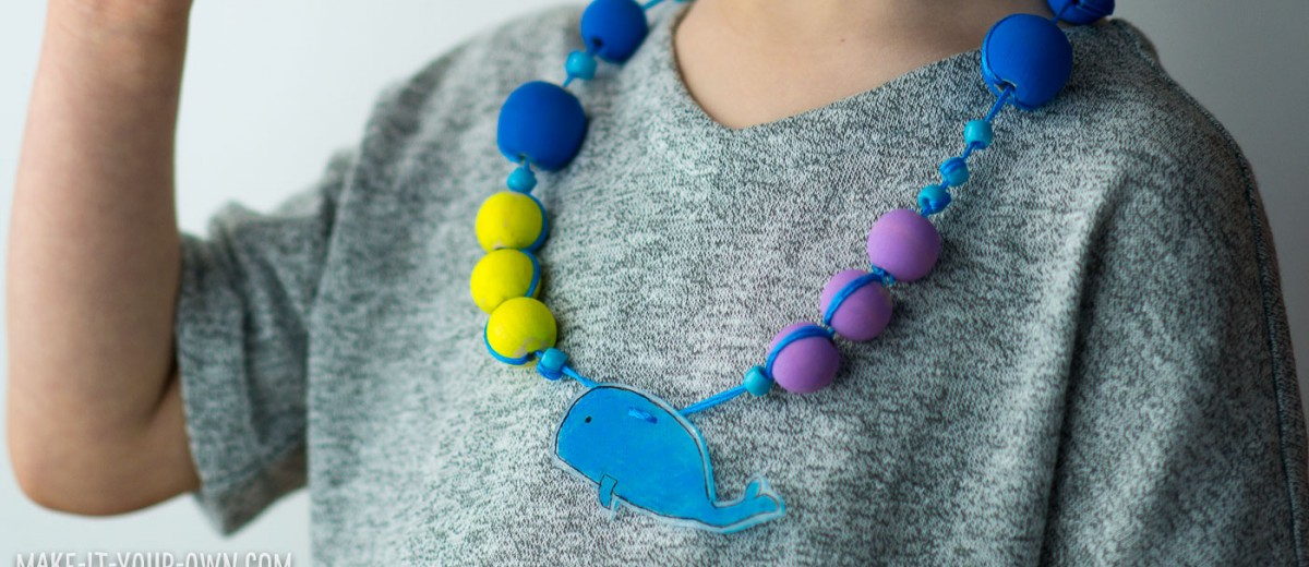 Shrink Art Necklaces from make-it-your-own.com (Crafts & activities for kids)