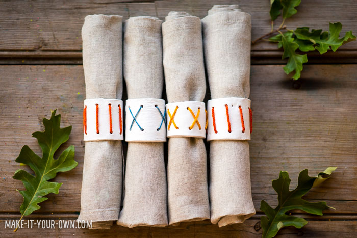 Clay Napkin Rings with make-it-your-own.com (Crafts & activities for kids)