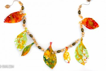 Watercolour Fall Leaf Garland with make-it-your-own.com (Crafts & activities for kids!)