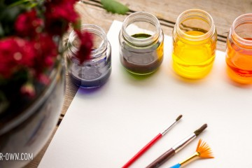 Watercolour Flowers with make-it-your-own.com (Crafts & activities for kids!)