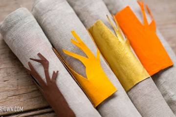 Thanksgiving: Tree Napkin Rings (using paper rolls!) with make-it-your-own.com (Crafts & activities for kids!)