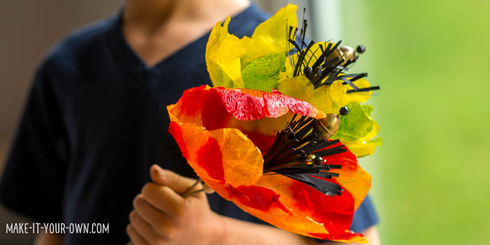 Paper Towel Flowers from make-it-your-own.com (Crafts & activities for kids)