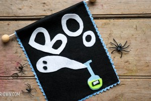 Kid-Designed Halloween Felt Banner with make-it-your-own.com (Crafts & activities for kids)