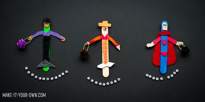 Trick-or-Treat Puppets with make-it-your-own.com (Crafts & activities for kids!)