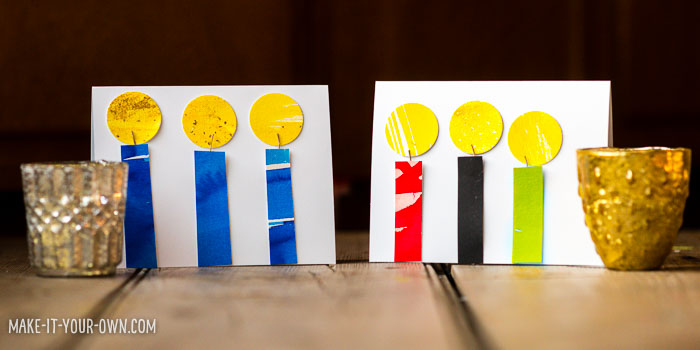 Handmade Candle Cards with make-it-your-own.com (Creative activities for kids)