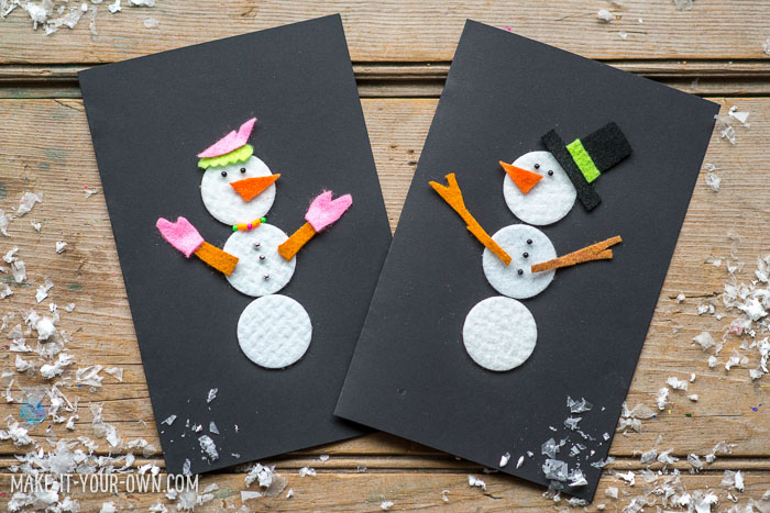 Handmade SnowPerson Cards with make-it-your-own.com (Creative activities for kids!)