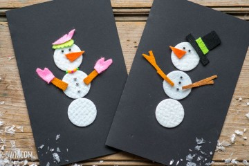 Make Your Own Snowperson Cards with make-it-your-own.com (Creative activities for kids!)
