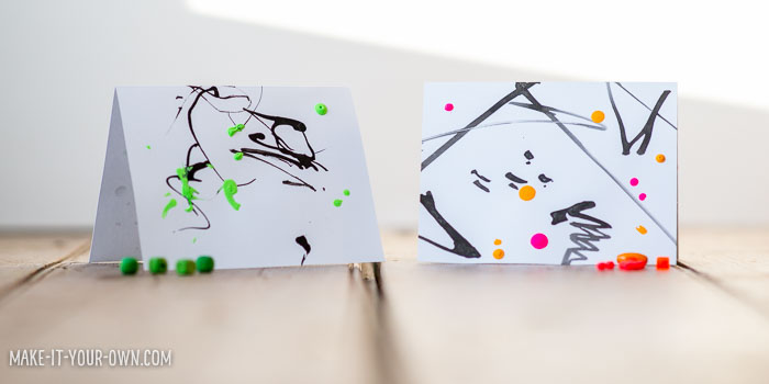 Stick and Drip Painting with make-it-your-own.com (Creative ideas for kids)