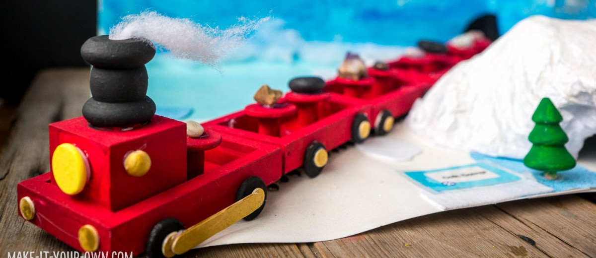 DIY Wooden Train with make-it-your-own.com (Creative activities for kids)