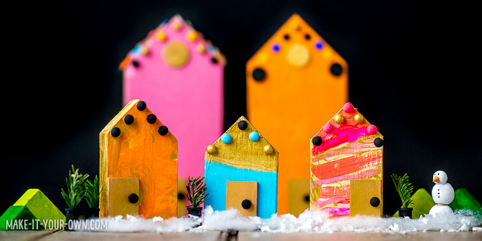 DIY Winter Village with make-it-your-own.com (Creative activities for kids!)