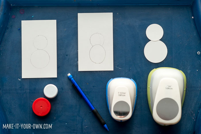 Snowball or Snow People Place Card Holders with make-it-your-own.com (Creative activities for kids)