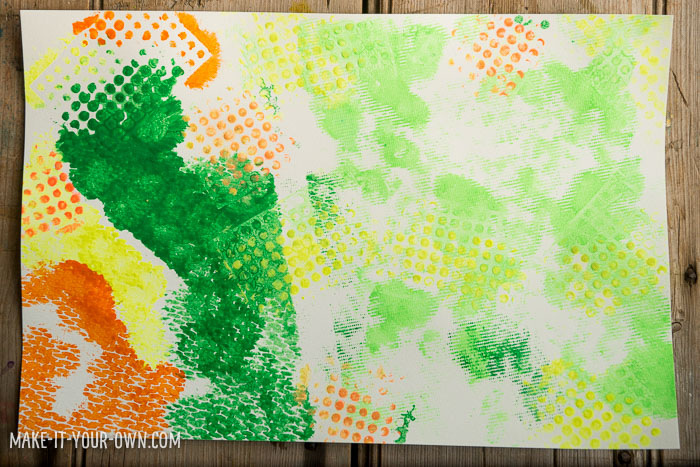 Mesh Painting with make-it-your-own.com (Creative activities for kids)