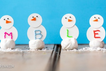 Snow People Place Holders with make-it-your-own.com (Creative activities for kids)