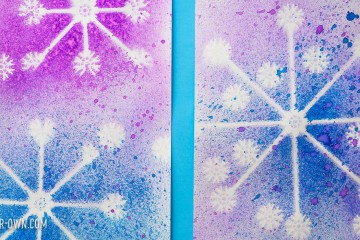 Snowflake Negative Images with make-it-your-own.com (Creative activities for kids!)