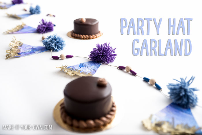 Party Hat Garland with make-it-your-own.com (Creative activities for kids)