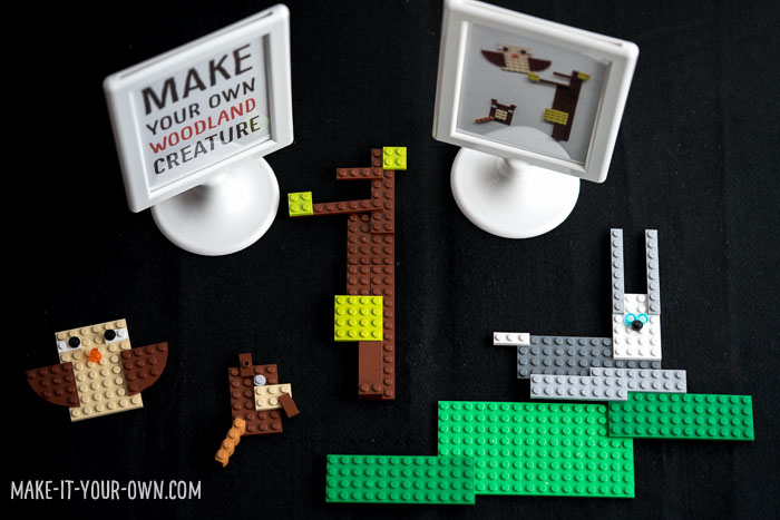 Animal Building Block (LEGO) Challenge with make-it-your-own.com (Creative activities for kids!)