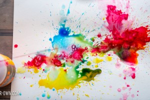 Pump Painting with make-it-your-own.com (Creative activities for kids). This painting process re-imagines soap pumps as a painting tool. It allows children to see what secondary colours are formed by the use of primary colours. (And who doesn't love water play!?)