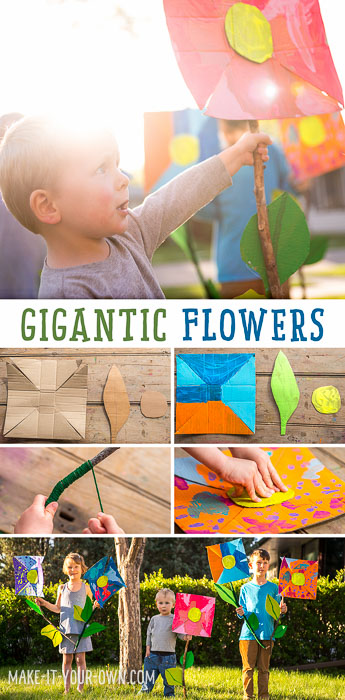 "Glue the pieces of your flower together and then glue the stick stem onto flower.  Be sure to hold it in place until the glue sets.  As my daughter said, ""The glue gun is good for this kind of project as it dries fast!"".  Glue your leaves onto the stem."