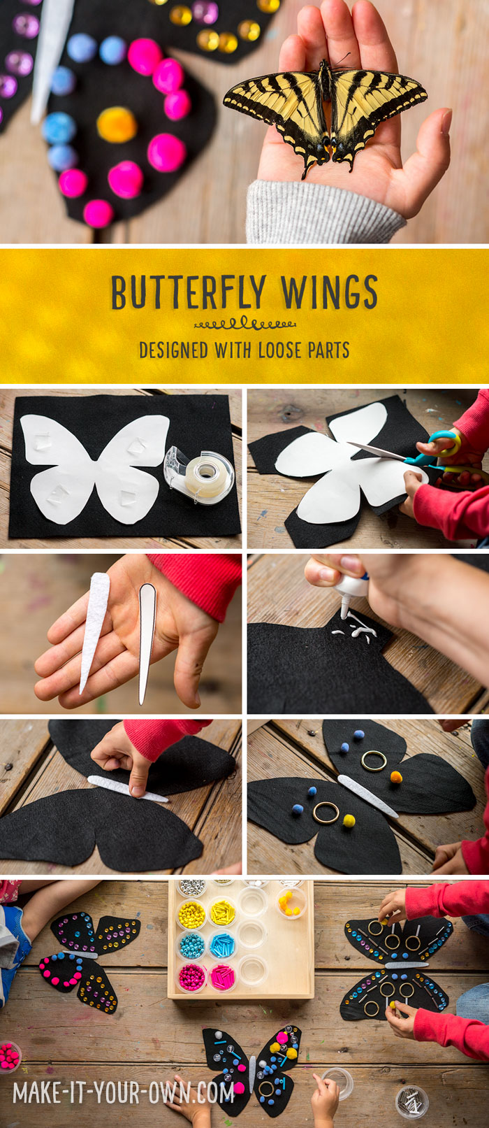 Design Butterfly Wings using Loose Parts!