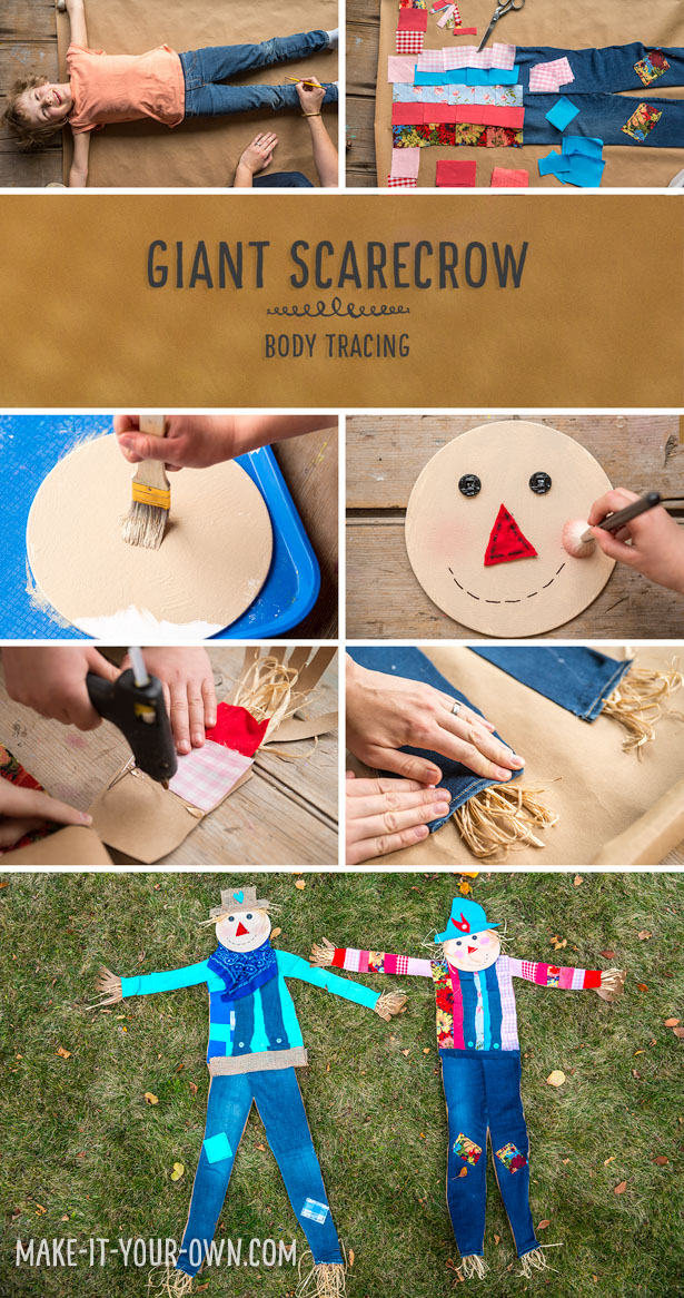 Make a Giant Scarecrow using Body Tracing!