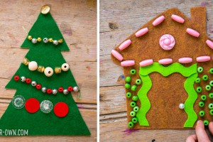 Gingerbread House & Christmas Tree: We provide templates for your children and/or students to design and decorate with loose parts!