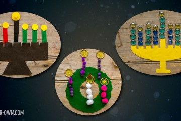 Festivals of Light: Create a Kinara, Menorah & Advent Wreath with Loose Parts